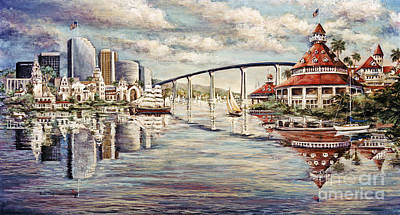 Famous Acrylic Landscape Painting - San Diego And Coronado Heritage by Glenn McNary