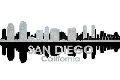 San Diego Ca 4 Print by Angelina Vick