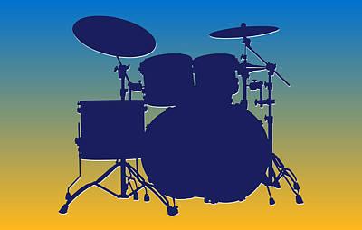 San Diego Chargers Drum Set Print by Joe Hamilton