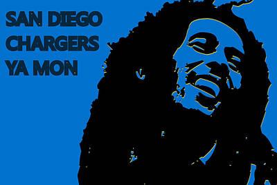 Drum Photograph - San Diego Chargers Ya Mon by Joe Hamilton