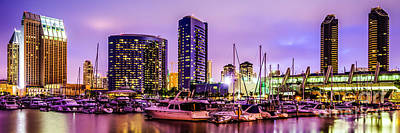Violet Photograph - San Diego Panorama Photography by Paul Velgos