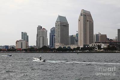 San Diego Embarcadero Park Photograph - San Diego Skyline 5d24334 by Wingsdomain Art and Photography