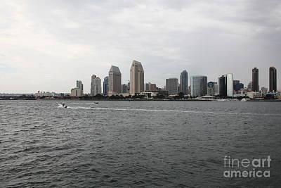 San Diego Embarcadero Park Photograph - San Diego Skyline 5d24336 by Wingsdomain Art and Photography