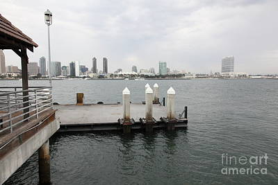 San Diego Embarcadero Park Photograph - San Diego Skyline 5d24349 by Wingsdomain Art and Photography
