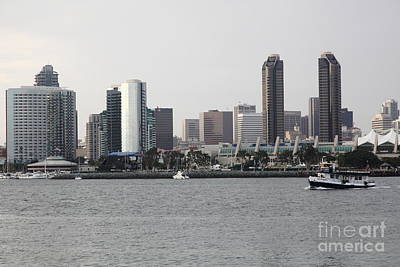 San Diego Embarcadero Park Photograph - San Diego Skyline 5d24380 by Wingsdomain Art and Photography