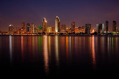 San Diego Skyline Print by Peter Tellone