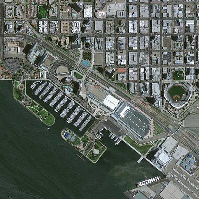 San Diego Embarcadero Park Photograph - San Diego, Usa, Satellite Image by Science Photo Library