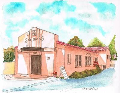 San Dimas Rail Road Museum - California Original by Carlos G Groppa