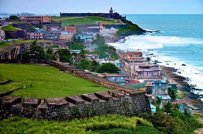 San Felipe Del Morro Fortress From San Cristobal Print by Ricardo J Ruiz de Porras