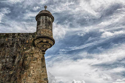 Puerto Rico Photograph - San Felipe Watchtower On A Stormy Day by Andres Leon