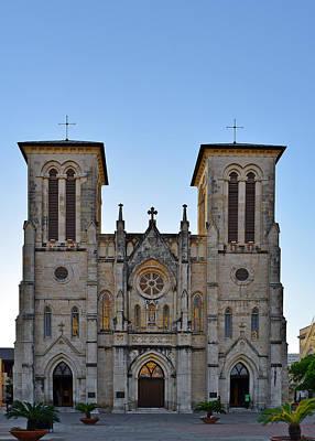 San Fernando Cathedral - San Antonio Tx Print by Christine Till