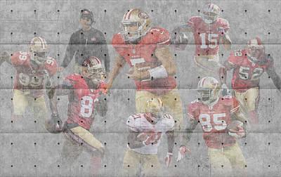 San Francisco 49ers Team Print by Joe Hamilton