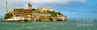 San Francisco - Alcatraz - 02 Print by Gregory Dyer