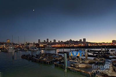 Sunset Photograph - San Francisco At Night Pier 39 by Artist and Photographer Laura Wrede