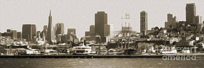 San Francisco - Cityscape - 02 Print by Gregory Dyer