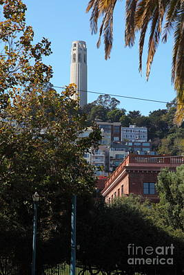 Metro Art Photograph - San Francisco Coit Tower 5d25941 by Wingsdomain Art and Photography