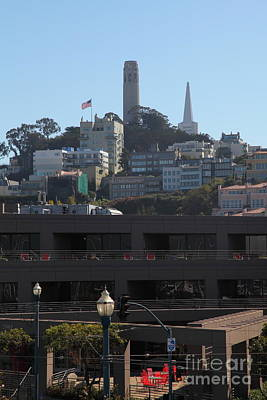 Metro Art Photograph - San Francisco Coit Tower 5d25995 by Wingsdomain Art and Photography