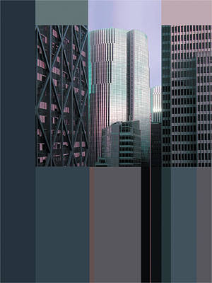 Financial Mixed Media - San Francisco Financial District by Richard Nodine