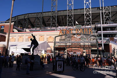 San Francisco Giants World Series Baseball At Att Park Dsc1899 Print by Wingsdomain Art and Photography