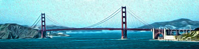 San Francisco - Golden Gate Bridge - 07 Print by Gregory Dyer