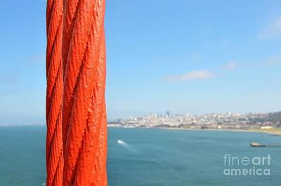 San Francisco Golden Gate Bridge Print by Paul Van Baardwijk