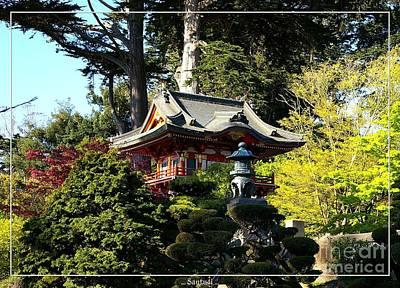 San Francisco Golden Gate Park Japanese Tea Garden 5 Print by Robert Santuci