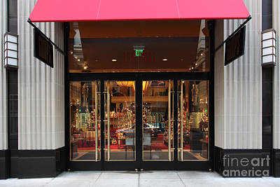 San Francisco Gumps Store Doors - 5d20588 Print by Wingsdomain Art and Photography