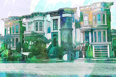 San Francisco Homes Print by Garry Gay