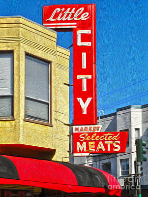 San Francisco - Little City Meats Print by Gregory Dyer
