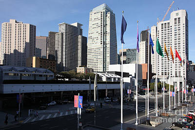 San Francisco Moscone Centerand And Skyline - 5d20504 Print by Wingsdomain Art and Photography