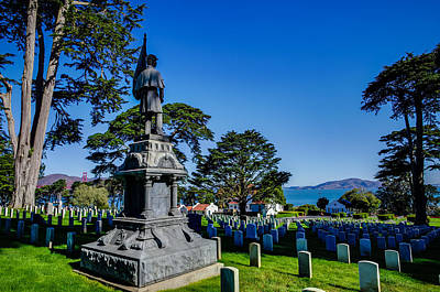 Presidio Park Photograph - San Francisco National Cemetery Soldiers Memorial by Scott McGuire
