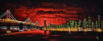 Sunsert Painting - San Francisco  Sold by Thomas Kolendra
