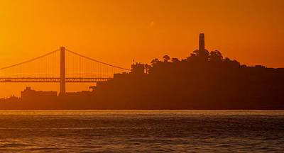 San Francisco Photograph - San Francisco Sunrise by Alexis Birkill