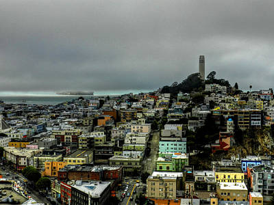 San Francisco - Telegraph Hill 002 Print by Lance Vaughn