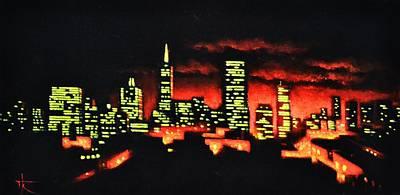 Sunsert Painting - San Francisco by Thomas Kolendra