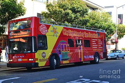 San Francisco Tour Bus Print by Michael Inscoe