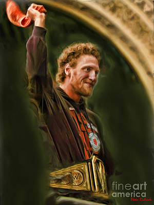San Fransco Gaints Hunter Pence Print by Blake Richards