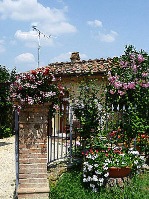 Vintage Style Photograph - San Gimignano Beauty Of Tuscany  by Irina Sztukowski