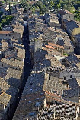 Photograph - San Gimignano Main Street by Sami Sarkis