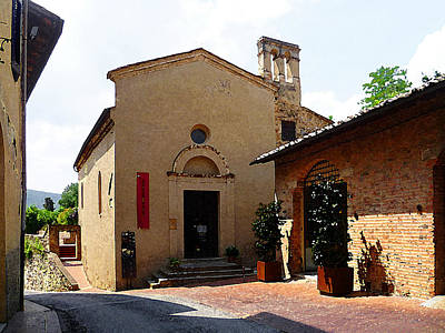 Vintage Style Photograph - San Gimignano Tuscany Italy by Irina Sztukowski