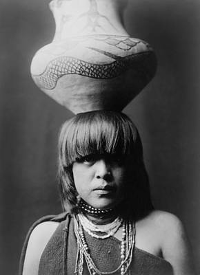 1927 Photograph - San Ildefonso Girl Circa 1927 by Aged Pixel