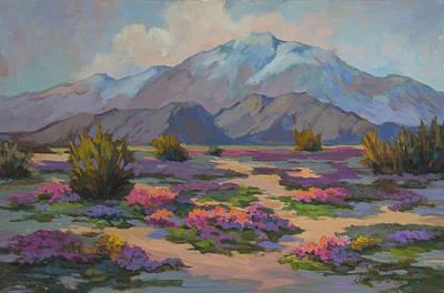 Verbena Painting - San Jacinto And Verbena by Diane McClary