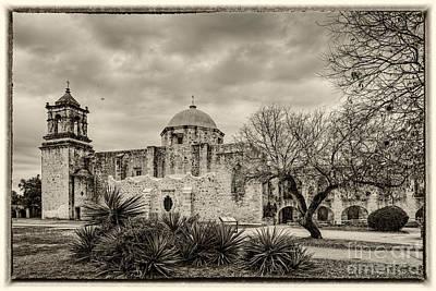 San Jose Historical Mission In San Antonio Texas Print by Silvio Ligutti