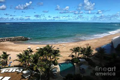 San Juan Beach View Print by John Rizzuto
