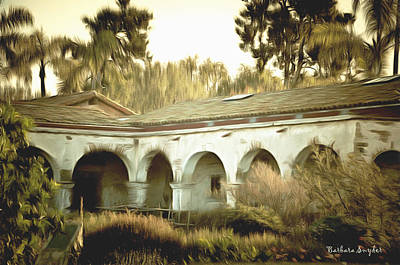 Mission San Juan Capistrano Painting - San Juan Capistrano California by Barbara Snyder