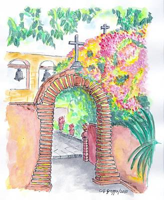 Mission San Juan Capistrano Painting - San Juan Capistrano Mission - California by Carlos G Groppa