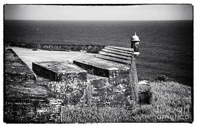 San Juan Forts Print by John Rizzuto