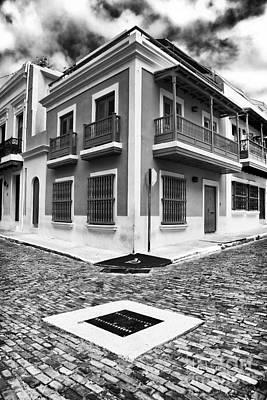 Caribbean Corner Photograph - San Juan Street Angles by John Rizzuto