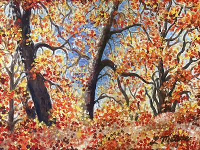 Impressionistic Landscape Painting - San Luis Rey Three by Linda Mears