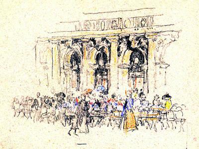 Quadri Photograph - San Marco Square Cafe 1901 by Padre Art